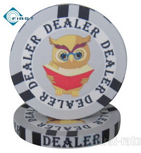 Ceramic Education Poker Dealer Button
