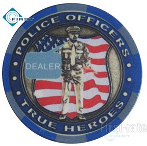 Ceramic Military Dealer Button