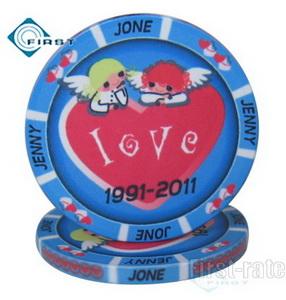 Ceramic Wedding Poker Chips