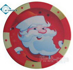 Christmas Poker Chips Ornament