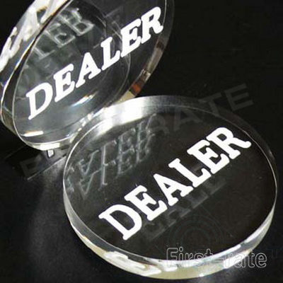 Clear Acrylic Poker Dealer Buttons