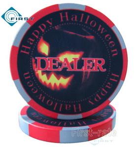 Custom Ceramic Dealer Buttons Halloween Gift