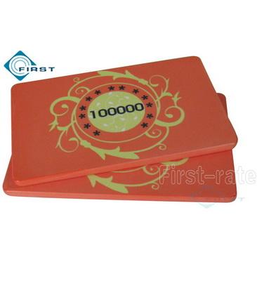 Custom Ceramic Poker Plaque