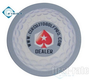Dealer Buttons Ceramic Poker Golf