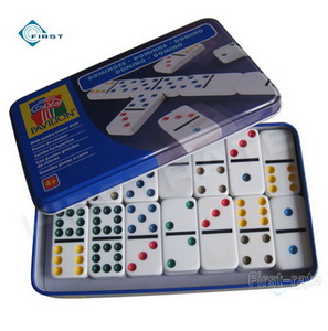 Double 6 Dominoes Set in Tin Box
