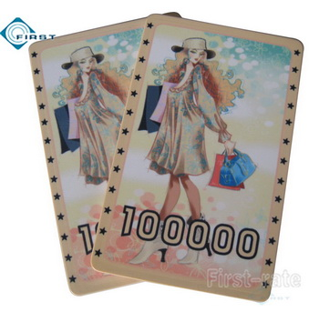 Fashion Girls Ceramic Poker Plaque