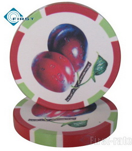 Fruit Style Ceramic Poker Dealer Button