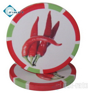 Fruits Series Ceramic Poker Chips
