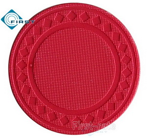 8g Pure Clay Diamond Poker Chips Red
