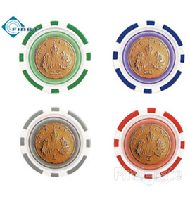 Gold Coin Poker Chips