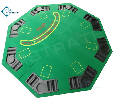 Green 2-in-1 Blackjack Poker Table Top