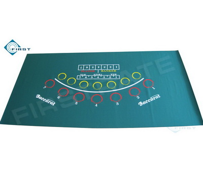 Green Baccarat Rubber Poker Cloth