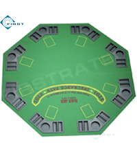 Green Suited Speed Felt Octagon Table Top