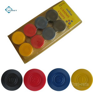 Interlocking Radial Poker Chips Set