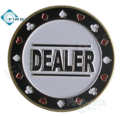 Metal Dealer Button