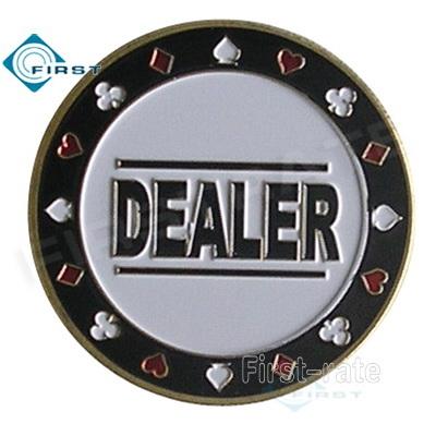 Metal Dealer Button
