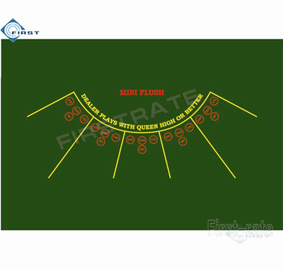 Mini Flush Layout Casino Table Cloth