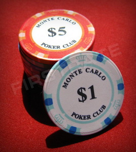Ceramic Poker Chips Monte Carlo Poker Club Chips