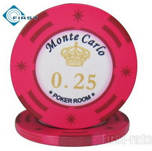 Monte Carlo Ceramic Poker Chips