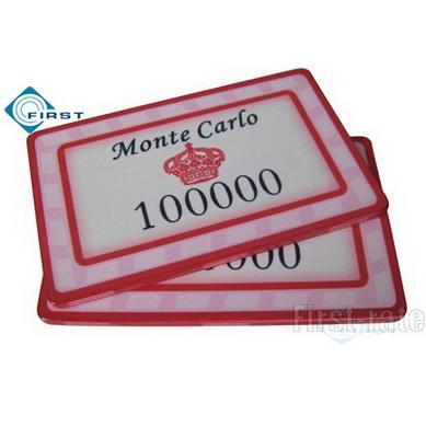 Monte Carlo Poker Chip Plaque