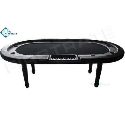 Oval Holdem Poker Table with Cup Holder