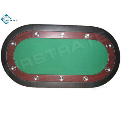 Oval Poker Table Top with Cup Holder