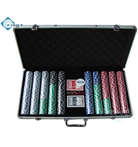 750pcs Aluminum Casino Chips Set