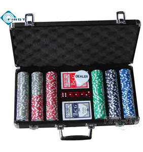 300pcs Black Aluminum Poker Chips Set