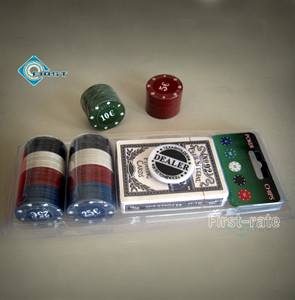 48pcs Cheap Poker Chips Set with Plastic Pack
