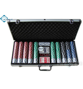 650pcs Locking Aluminum Poker Chips Set