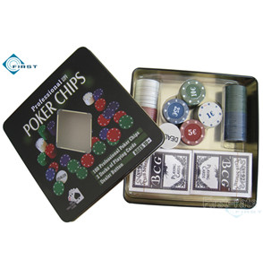 100pcs Poker Chips Gift Set