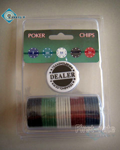 30pcs Poker Chips Set Plastic Pack