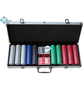 500pcs Poker Chips Set with Aluminum Case
