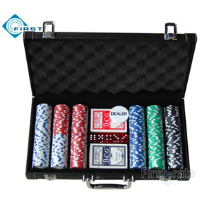 300pcs Poker Chips Set with Leather Case