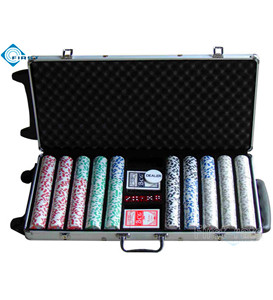 750pcs Poker Chips Set with Trolley