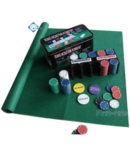 200pcs Texas Hold\'em Poker Chip Set with Tin Box