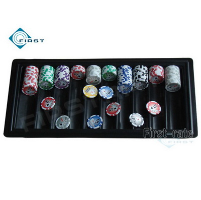 Plastic Black Poker Chip Tray