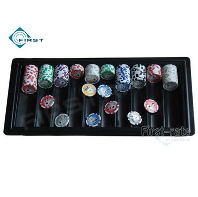 Plastic Black Poker Chip Tray