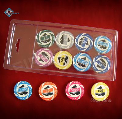Plastic Clear Blister Ceramic Chips Container Clamshell Box