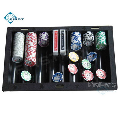 Plastic Poker Chip Tray with Card Holder