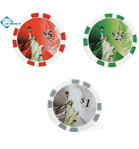 Plastic Poker Chips Statue of Liberty Style