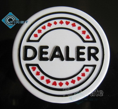 Plastic Poker Dealer Buttons with Embossed Design