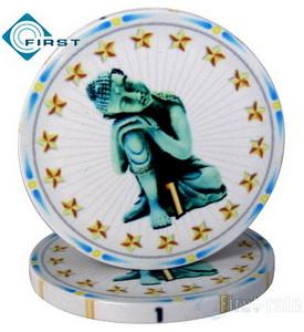 Poker Chips Buddhism Novelty Gift