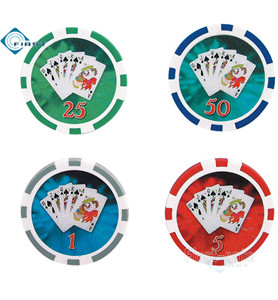Poker Chips Royal Flush Style
