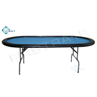 Poker Table with Foldable Steel Legs