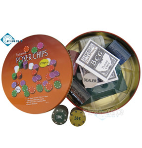 Prefessional Poker Chips Set in Tin Box