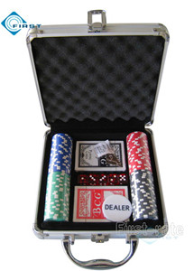 Promotion 100pcs Poker Chips Set with Alminum Case