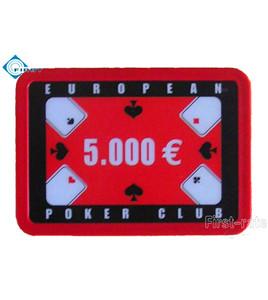 Rectangle Plastic Poker Plaques