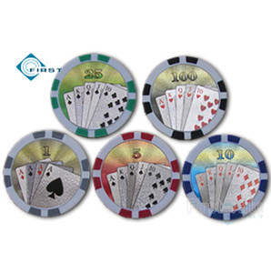 Royal Flush Clay Poker Chips