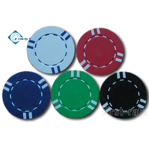 Striped Poker Chips